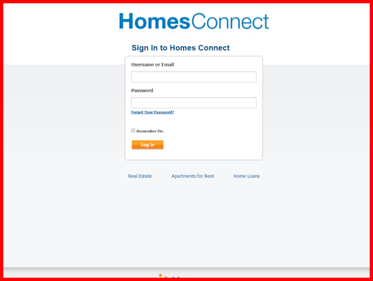 screenshots sign in to homes connect