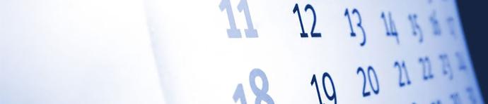 Event Calendar header